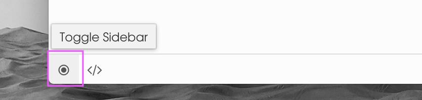 在macOS上切换侧边栏
