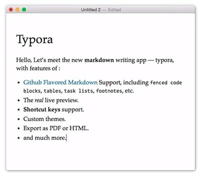 Typora for mac